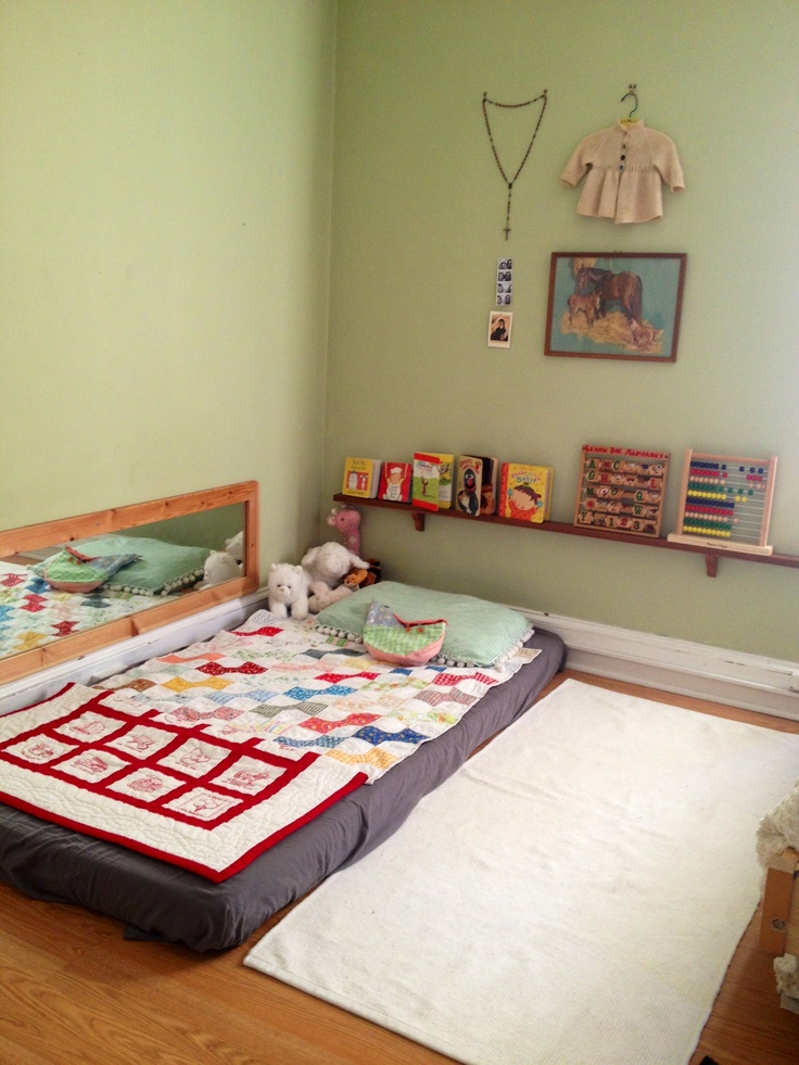 montessori floor bed mattress directly on the floor credit unknown